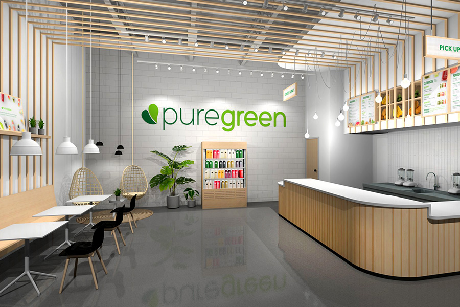 PURE GREEN BAR – interior